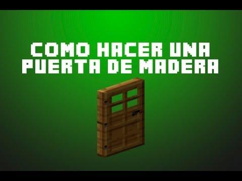 minecraft como hacer una puerta de madera youtube