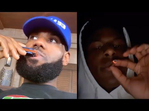 Lebron James Reacts To His Son Bronny Smoking Zaza On Live