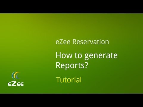 Reports in eZee Reservation, Online Hotel Booking Engine