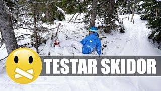 TESTAR ATT ÅKA SKIDOR   VLOGG 2
