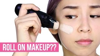 ROLL ON MAKEUP!! DOES IT WORK?? - TINA TRIES IT
