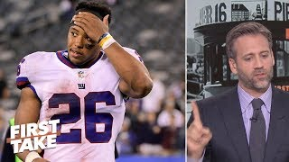 Saquon is best running back in NFL over Todd Gurley - Max Kellerman | First Take