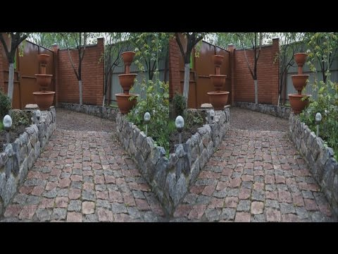 Beautiful Yard in 3D ! The magic of stone and earth .