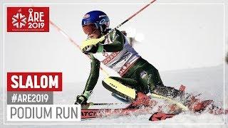 Mikaela Shiffrin | Gold Medal | Ladies' Slalom | Are | FIS World Alpine Ski Championships