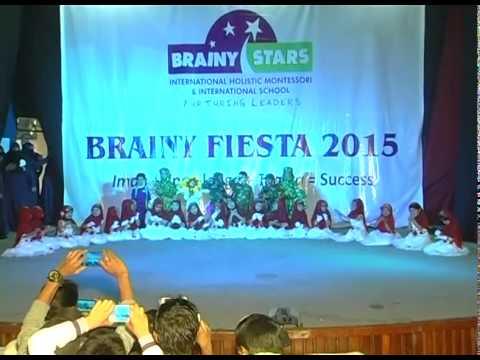 BRAINY STARS JAYANAGAR BRANCH KIDS PERFORMING IN ANNUAL DAY PROGRAMME..