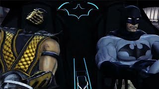Batman Meets Scorpion, Subzero and Raiden - Mk vs DC Universe