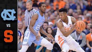 North Carolina vs. Syracuse Basketball Highlights (2017-18)