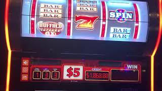 Buffalo Wilds Slot Machine $5 Denom - High Limit - Bonus Spins - $15/Spin