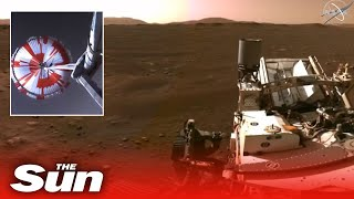 Nasa's Mars Perseverance rover reveals stunning first video and audio recording from Red Planet