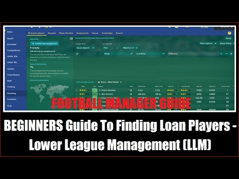 BEGINNERS Guide To Finding Loan Players - Lower League Management (LLM)