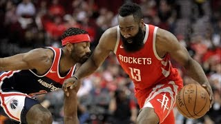 James Harden 38 Pts Just Misses Triple Double! 2017-18 Season