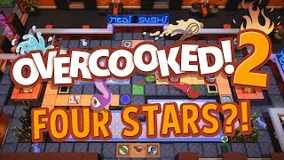 Overcooked 2 - FOUR STARS IS IMPOSSIBLE!! (4 Player Gameplay)