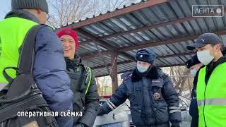 «Студенческий десант» вместе с полицейскими высадился на городских дорогах Артема
