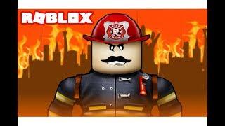اشتغلت موظف رجل اطفاء فى لعبة roblox !!     -