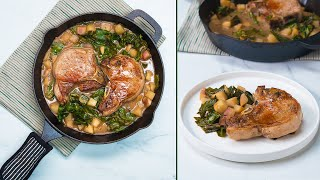 One-Pan Cider-Braised Pork Dinner