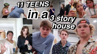 what SPRING BREAK with 11 TEENAGERS is like AT THE BEACH | PART 1