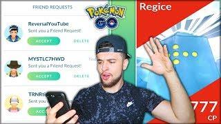 MAKING FRIENDS + FIRST EVER LEGENDARY REGICE RAIDS! (Pokémon GO)
