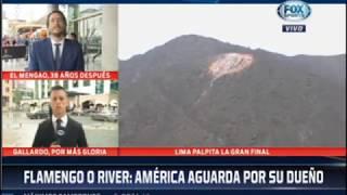 Fox Sports informó que escudo de Universitario fue dañado por hincha de Alianza Lima
