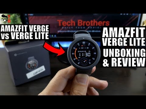 video Huami Amazfit Verge Lite Shark Grey Smartwatch Review<span class=