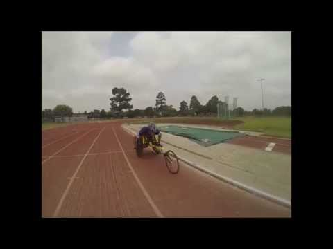 How to steer a racing wheelchair