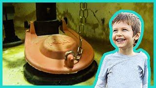 Kids Ride in Toilet Submarine