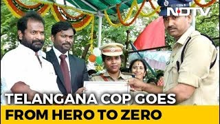 Telangana Cop Caught Taking Bribe Day After Getting Best C..