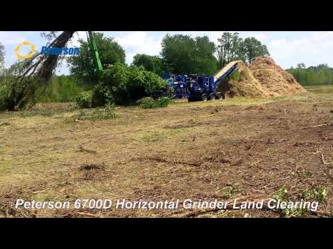 Peteson 6700D Horizontal Grinder Land Clearing