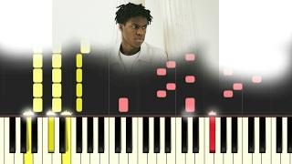 Daniel Caesar - Won't live here [#reggiewatkins piano synthesia TUTORIAL]