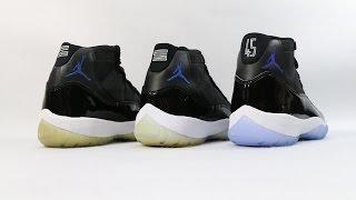 Comparison - Air Jordan 11 XI Space Jam (2000 vs 2009 vs 2016)