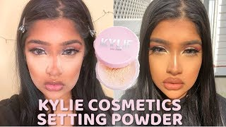 NEW KYLIE COSMETICS LOOSE SETTING POWDER | WEAR TEST | DEMO | REVIEW | FIRST IMPRESSIONS