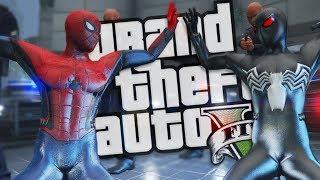 SPIDER-MAN VS EVIL SPIDER-MAN MOD (GTA 5 PC Mods Gameplay)