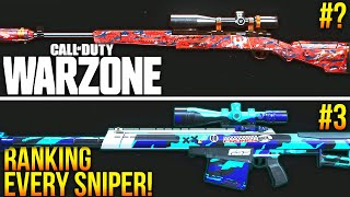 Call Of Duty WARZONE: RANKING Every Sniper & Marksman Rifle! (WARZONE Best Loadouts)