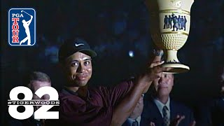 Tiger Woods wins 2000 WGC-NEC Invitational Chasing 82