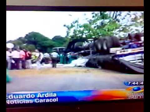Accidente de tractomula en Florencia caqueta, Colombia