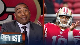 Cris Carter talks Jimmy Garoppolo's impact   FIRST THINGS FIRST