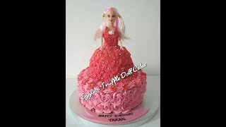 Learn How to decorate Eggless Truffle Doll Cake