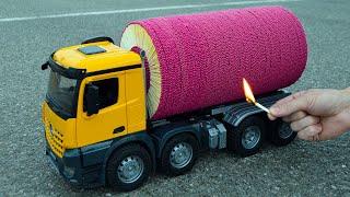 🌋🚀 Amazing 50,000 Matches Powered Jet Truck