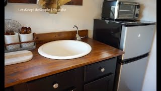 "No Plumbing ""Off The Grid"" Sink: Tiny House."