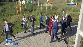 Мэр Омска Оксана Фадина сегодня вместе с подрядчиком осмотрела состояние недостроенного детского сада в микрорайоне «Рябиновка»