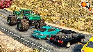 Custom Created Big Foot high speed Destruction (Monster Truck) BeamNG Drive #2
