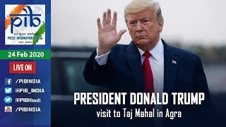 Donald Trump visit to Taj Mahal in Agra - Live..