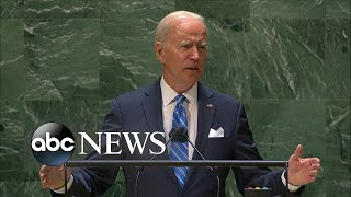 Biden addresses United Nations General Assembly | ABC News