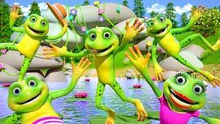 Five Little Speckled Frogs   Kindergarten Nursery Rhymes for Kids   Cartoon Song by Little Treehouse