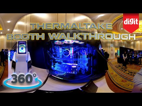 360? Walkthrough of ThermalTake's Booth @ CES 2020