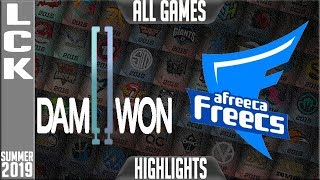 DWG vs AF Highlights ALL GAMES | LCK Summer 2019 Week 4 Day 2 | Damwon Gaming vs Afreeca Freecs