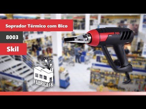 Soprador Térmico Com Bico 1800 W 8003 Skil - 220V - Vídeo explicativo