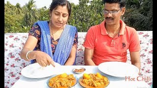 Eating Chicken With Rice Challenge || Hot Chilli