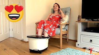 Dr Physio Foot Spa Massager and Pedicure Tub with manual rollers - bubble and heat massage
