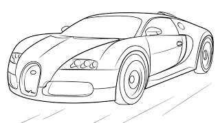 how to draw a bugatti step by step youtube