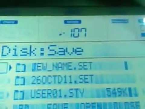 Guardar un ritmo en el Teclado Korg Pa a diskete, tarjeta Sd, o Disco duro